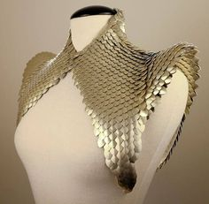 Would be excellent for a Frigga cosplay Shoulder Armor, Cool Outfits, Fashion Outfits, Fabric Tape, Fantasy Dress, Inked Magazine, Character Outfits, Chainmaille, Mode Inspiration