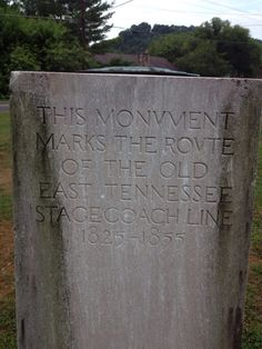 This monument stands at Brown's Corner, Hawkins County, Rogersville, Tennessee (photo credit Johnny Greer)