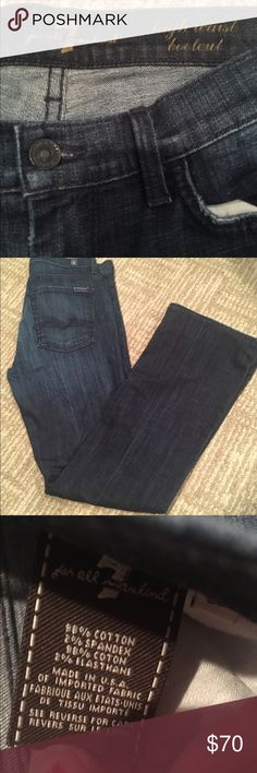 7 FOR ALL MANKIND HIGH WAISTED BOOTCUT JEANS Pre loved perfect condition 7 for all mankind jeans high waisted BOOTCUT style have been altered and hemmed by a seamstress and now measure 29 inches inseam (from crotch to bottom of pants) waist is about 14 1/2 inches (they are high waisted) fast shipping follow for deals bundle for discounts ! 7 For All Mankind Jeans Boot Cut