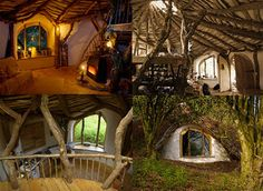 Speaking of Hobbit holes, Pembrokeshire, Wales is home to a family with a house straight out of this classic fantasy tale. This amazing architectural wonder is created virtually completely from the natural materials found around the residence. The walls are made out of stone and mud and water enters the house by gravity from a nearby spring, and the roof is entirely green.  ♥