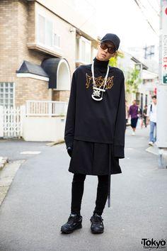 Dark Harajuku Street Style w/ From K to ALL, Givenchy, Raf Simons, Alexander Wang & Heaven Tanudiredja