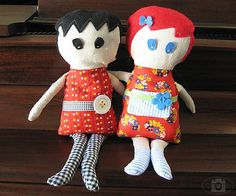 super cute and easy rag doll pattern too.