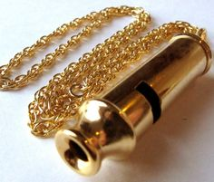 Vintage Whistle Necklace