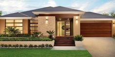 Single story modern home design simple contemporary house plans throughout single story house design ideas Contemporary House Plans, Modern House Plans, Modern House Design, Contemporary Design, Simple House Design, Single Floor House Design, Kerala House Design, Floor Design, Facade Design