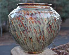 Large Ceramic Decorative Textured Clay Vase Ceramic Pottery. $80.00, via Etsy.