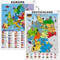 """Lerntafel """"Landkarte: Deutschland und Europa"""""""