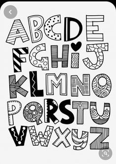 Hand drawn capital cartoon English alphabet with capital letters - Alphabet and FONT - Vector funny comics font. Hand drawn capital cartoon English alphabet with capital letters - Alphabet Drawing, Hand Lettering Alphabet, Doodle Lettering, Doodle Alphabet, Abc Alphabet, Cute Fonts Alphabet, Doodle Fonts, Drawing Letters, Lettering Styles Alphabet