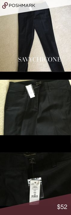 🎅🏻NWT WHBM PERFECT FORM PANT Fantastic black NWT WHBM perfect form pant.  This pant really can be worn all seasons!  Not selling because I am no longer this size😩 White House Black Market Pants