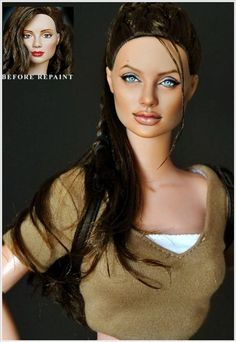 Realistic Celebrity Dolls By Noel Cruz. This is amazing! Check out his work. He repaints Barbie dolls and other dolls like that and makes them *identical* (in most cases) to celebrities.