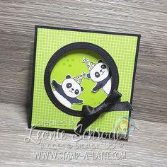 Party Pandas Corner Flip Card by Leonie Schroder Independent Stampin' Up! Demonstrator Australia