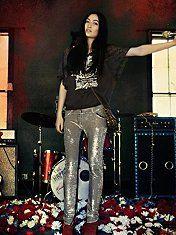 IRO Distressed Sequin Pants #freepeople #Iro