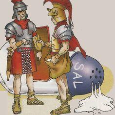 Los romanos pagaban a sus legionarios con sal, que era muy costosa en aquella época