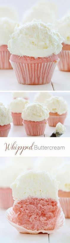 Piled-High Buttercream on Glorious Pink Velvet Cupcakes! This is the best cupcake frosting recipe! Frosting Recipes, Cupcake Recipes, Baking Recipes, Cupcake Cakes, Dessert Recipes, Frosting Tips, Rose Cupcake, Cupcake Frosting, Baking Desserts