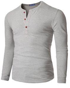 Doublju Mens Henley T-shirts with Short Sleeve | goth ninja / post ...