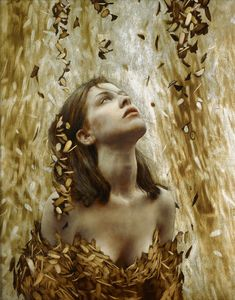 the paintings and artwork of brad kunkle. gold leaf artist and painter brad kunkle. Portraits, Portrait Art, Brad Kunkle, Gold Leaf Art, William Adolphe Bouguereau, Painted Leaves, Art Graphique, Figurative Art, Female Art
