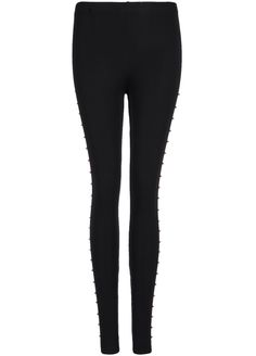 Shop Black Slim Rivet Legging online. Sheinside offers Black Slim Rivet Legging & more to fit your fashionable needs. Free Shipping Worldwide!