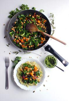 Poêlée de Boulgour aux Patates Douces et Pesto de Chou Kale