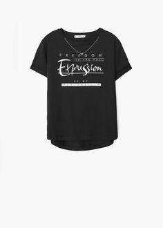 Printed cotton t-shirt - Women Shirt Print Design, Tee Design, Shirt Designs, Printed Cotton, Printed Shirts, Blouses For Women, T Shirts For Women, Junior Fashion, Athleisure Wear