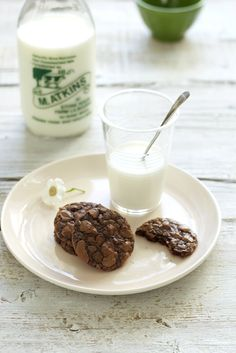 Chocolate brownie cookies, de FoodAndCook (recipe in spanish)