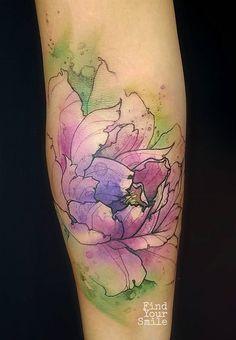 Russell Van Schaick Findyoursmile flower tattoo