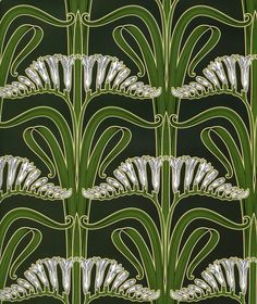 Art Nouveau Design DECORATIVE PAPER  Art Nouveau by OneDayLongAgo