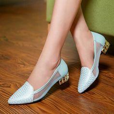 Womens Exotic Fancy Low Heels