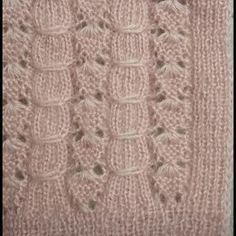 Visit the site for details. Lace Knitting Stitches, Baby Knitting Patterns, Knitting Designs, Knitting Projects, Stitch Patterns, Crochet Patterns, Filet Crochet, Crochet Motif, Diy Crochet