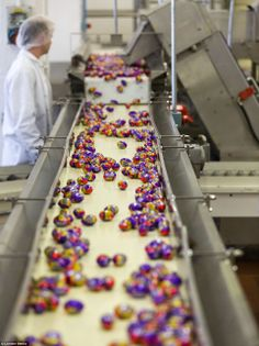 How do you MAKE yours, Cadbury? Inside the Willy Wonka-style chocolate factory where 1.5m Creme Eggs are made EVERY DAY!