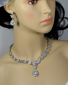 20OFF Bridal necklace SET Wedding jewelry by thefabbridaljewelry