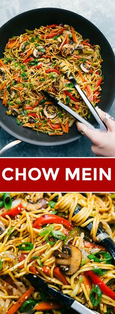 Easy vegetarian chow mein with plenty of veggies and an addictive savory sauce coating it all. Today I'm sharing all my tips and tricks on how to make chow mein better than takeout! Recipe via chelseasmessyapron Recipes vegetarian Chow Mein Fun Easy Recipes, Special Recipes, Dinner Recipes, Easy Meals, Healthy Recipes, Easy Vegetable Recipes, Eat Healthy, Chow Mein Noodle Recipe, Chow Mein Recipe Vegetable