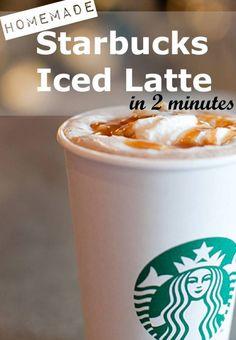 Enjoy my copycat Starbucks Skinny Iced Latte recipe and enjoy the savings! (Savings of: $4 per day, $28 per week, $112 per month, $1460 per year!)