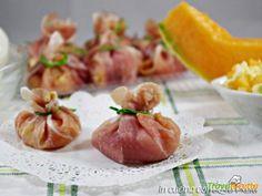 Fagottini prosciutto melone e mozzarella  #ricette #food #recipes