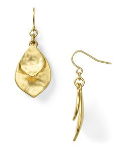 Lauren Ralph Lauren Hammered Double Teardrop Earrings | Bloomingdale's