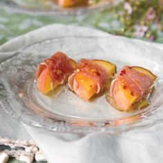 Prosciutto-Wrapped Peaches with Spicy Glaze