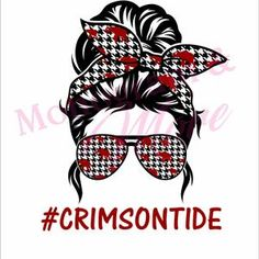Crimson Tide Football, Alabama Football, Football Girls, Alabama Crimson Tide, Dripping Lips, Disney Images, Roll Tide, Messy Bun, Cricut Tutorials