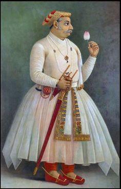 Maharana Raj Singh by Raja Ravi Varma,19th c.