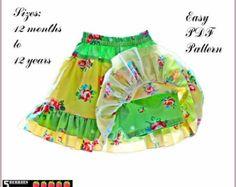 PATRÓN de falda Chicas Pik-a-boo gratis madre e hija por 5Berries