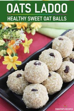 Oats laddu recipe Oats ladoo recipe with jaggery via Oats Recipes Indian, Indian Dessert Recipes, Indian Sweets, Healthy Dessert Recipes, Sweets Recipes, Sweet Desserts, Cooking Recipes, Light Desserts, Healthy Dishes