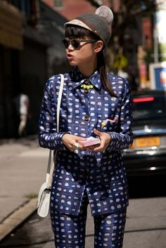 Street style from New York Fashion Week Spring/Summer 2013. Photographer: Bridget Fleming.