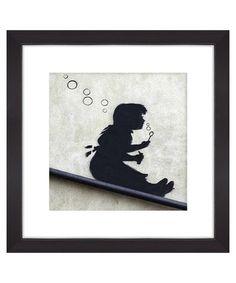 Girl blowing bubbles print Sale - Banksy Sale