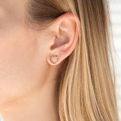 GOLD-PLATED OPENWORK HEART EARRINGS #bemylilou #earrings #jewelry #hearts