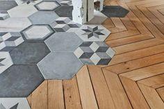 La última tendencia en suelos: combinar parquet y cerámica | Innova Parquets Maresme