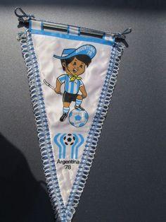 Vintage Soccer World Cup 1978 Argentina Mascot Gauchito Rare Small Pennant Flag   | eBay