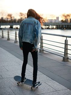 Model Natalie Westling Brings Back the Original Skate Sneaker via @WhoWhatWear