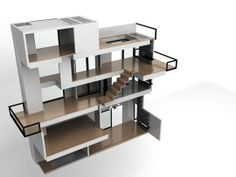 Fun modern dollhouse!