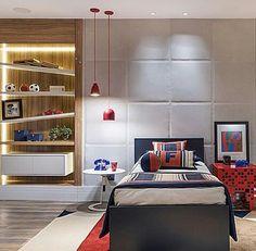 Inspiração ♡ #interiores #design #interiordesign #decor #decoração #decorlovers #archilovers #inspiration #ideias #dormitórioteen #quartoteen #bedroom #teenroom #quartodemenino #casacor #casacorsp #patriciapasquini