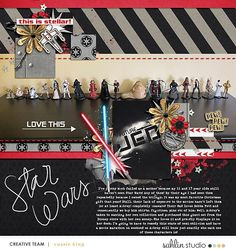 Disney Star Wars Future Jedi digital scrapbook layout using Project Mouse (Galaxy) by Brittish Designs and Sahlin Studio