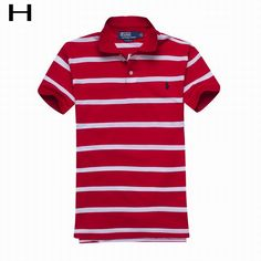 Polo Ralph Lauren s Striped Cotton Mesh Short Sleeve Shirts Red White f3cfe32c4ece