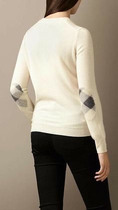 Cashmere Needlepunch Sweater from Burberry. Shop more products from Burberry on Wanelo. Cozy Sweaters, Cashmere Sweaters, Sweaters For Women, Elbow Patch Sweater, Elbow Patches, Burberry, Love Jeans, Sport Fashion, Her Hair