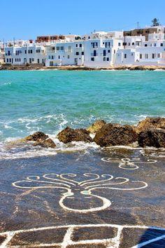 Les poulpes peints de Naoussa, Paros, Cyclades, Grèce / Greece